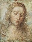 Leonardo da Vinci Head of Christ painting
