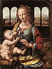 Leonardo da Vinci The Madonna of the Carnation painting