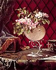 Martin Johnson Heade Still Life with Apple Blossoms in a Nautilus Shell painting
