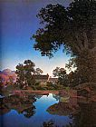 Maxfield Parrish Evening Shadows painting