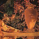 Maxfield Parrish The Garden of Allah [detail] painting