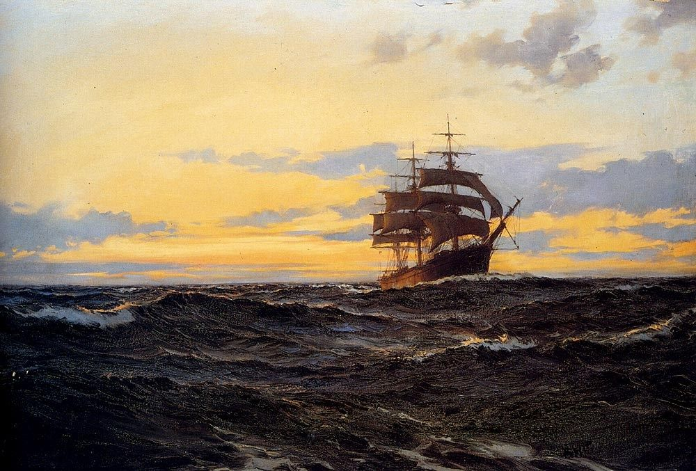 Montague Dawson Evening Shadows