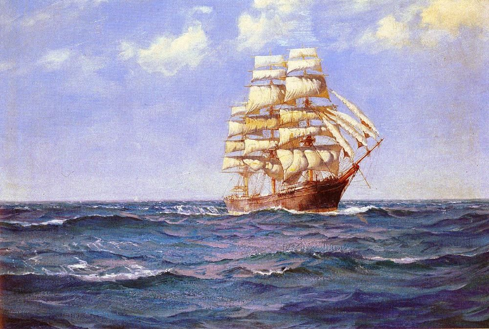 Montague Dawson Rollicking Days