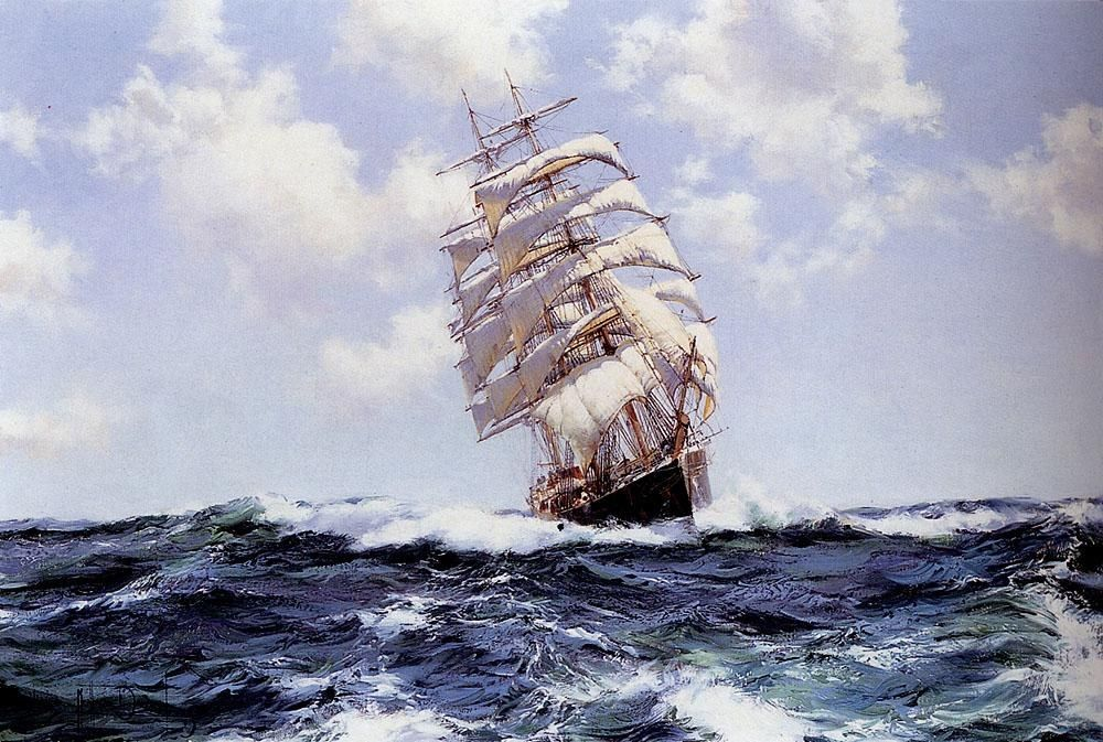 Montague Dawson Rolling Seas - Eastern Monarch