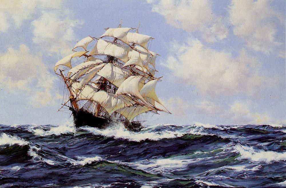 Montague Dawson Swinging Along