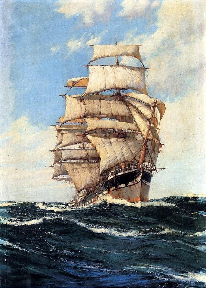 Montague Dawson The Clan McFarlane On High Seas