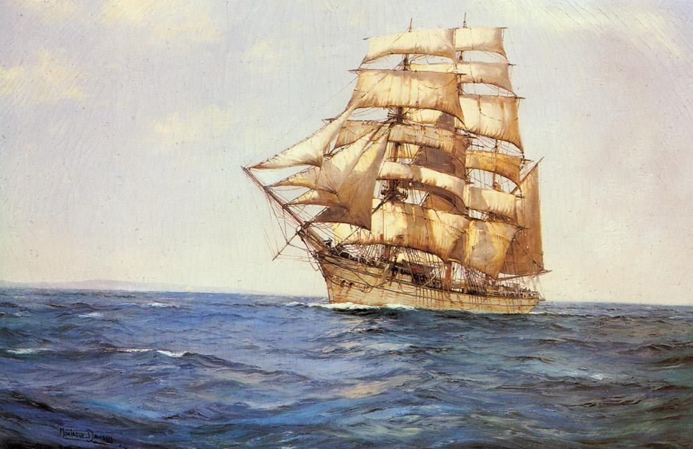 Montague Dawson The Old White Barque