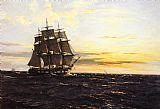 Montague Dawson Into The Westerly Sun painting
