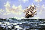 Montague Dawson Sun-Flecked Foam--The Barnabas Webb of Thomaston painting