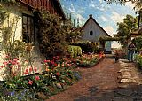 Peder Mork Monsted In The Garden painting