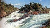 Peder Mork Monsted The Raging Rapids painting
