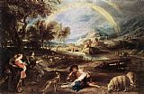 Peter Paul Rubens Landscape with a Rainbow painting