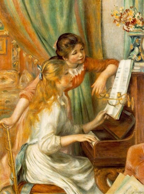 Pierre Auguste Renoir Girls at The Piano