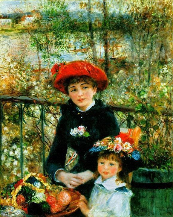 Pierre Auguste Renoir Two Sisters on the Terrace