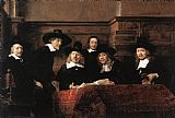 Rembrandt Sampling Officials of the Drapers' Guild painting
