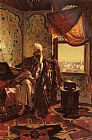 Rudolf Ernst Smoking The Hookah painting