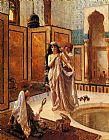 Rudolf Ernst The Harem Bath painting