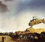 Salvador Dali Apparition of the Town of Delft painting