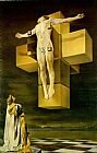 Christ paintings - Cruxifixion (Hypercubic Body) by Salvador Dali
