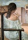 Salvador Dali Girl from the Back painting