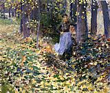Theodore Robinson Autumn Sunlight painting