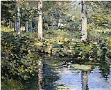 Theodore Robinson The Duck Pond painting