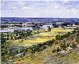 Theodore Robinson Valley of the Seine from Giverny Heights painting