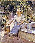 Theodore Robinson Watering Pots painting