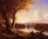 Thomas Cole Indian at Sunset painting