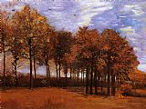 Landscape paintings - Autumn Landscape by Vincent van Gogh