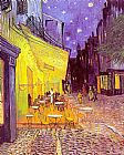 starry night over the rhone Paintings - Cafe Terrace at Night