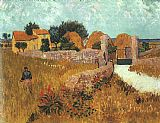 Vincent van Gogh Farmhouse in Provence painting