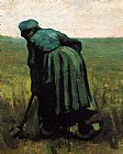 Vincent van Gogh Peasant Woman Digging painting