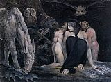 William Blake Hecate or the Three Fates painting