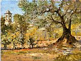 William Merritt Chase Olive Trees Florence painting