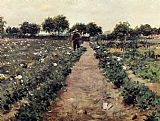 William Merritt Chase The Potato Patch painting