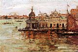 Venice paintings - Venice View of the Navy Arsenal by William Merritt Chase