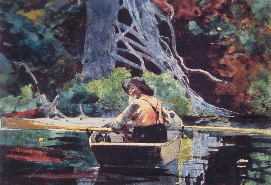 Winslow Homer The Red Canoe