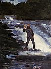 Winslow Homer Winslow The Angler painting