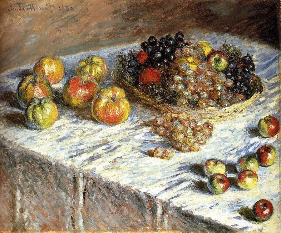Claude Monet Still Life Apples And Grapes