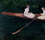 Claude Monet Boating On The River Epte painting