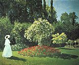 the garden of prayer Paintings - Jeanne-Marguerite Lecadre in the Garden