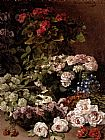 Still Life paintings - Monet Spring Flowers by Claude Monet