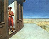 edward hopper Paintings - Carolina Morning