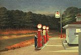 edward hopper Paintings - Gas