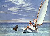 edward hopper Paintings - Ground Swell