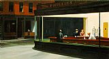 edward hopper Paintings - Nighthawks