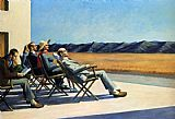 edward hopper Paintings - People In The Sun