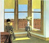 edward hopper Paintings - Room in Brooklyn